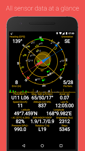 GPS Status & Toolbox скриншот 1