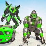 Обезьяна робот Преобразуя игры животное робот war