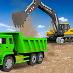 Песок экскаватор грузовик вождение спасение имитат