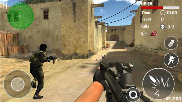 Борьба терроризма стрельба FPS скриншот 1