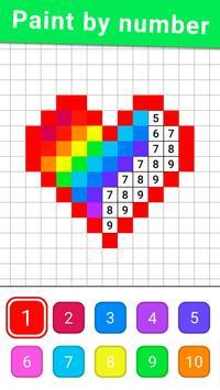 Раскраска по цифрам по клеточкам по номерам скриншот 2