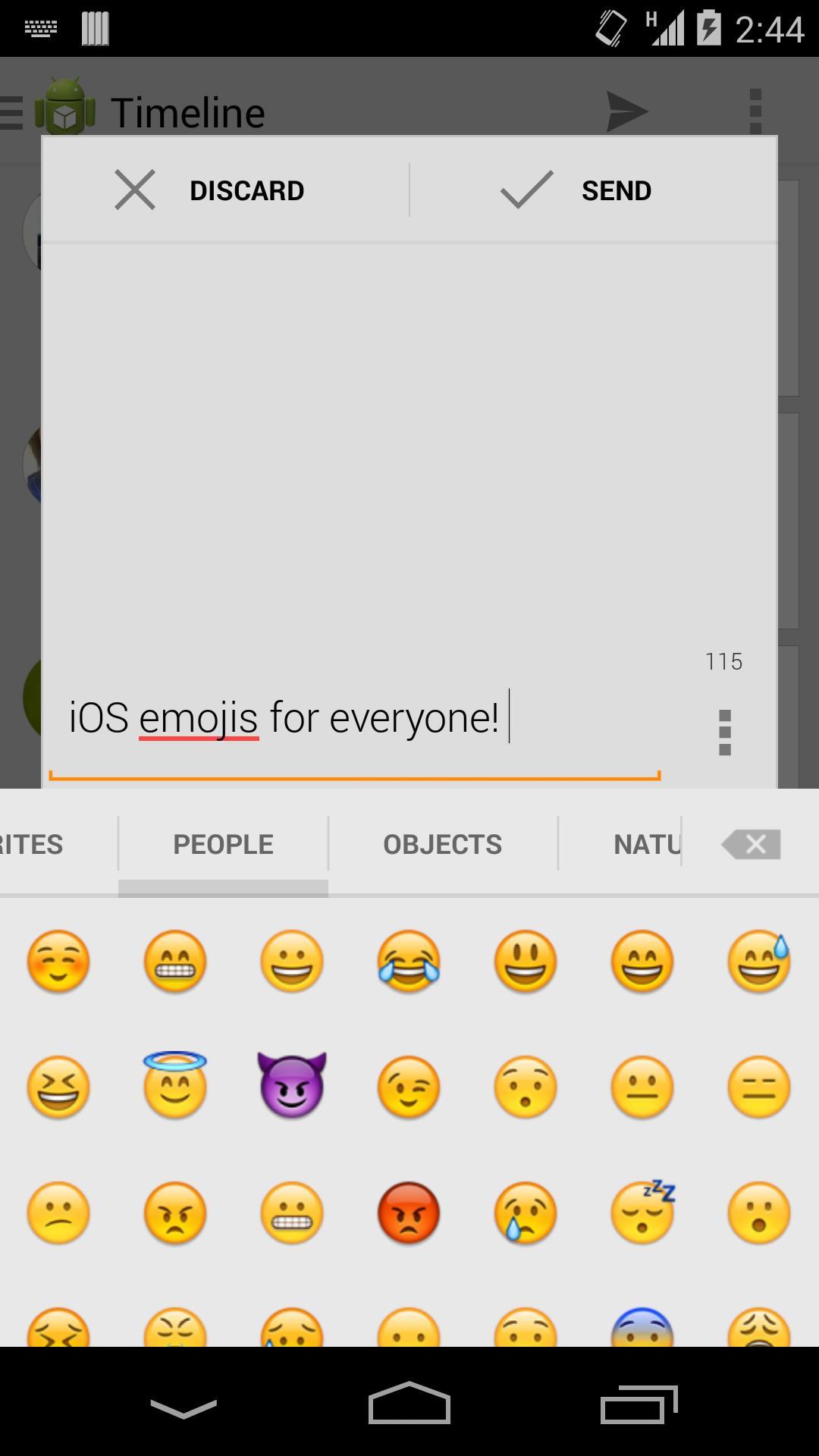 Sliding Emoji Keyboard - iOS скриншот 1