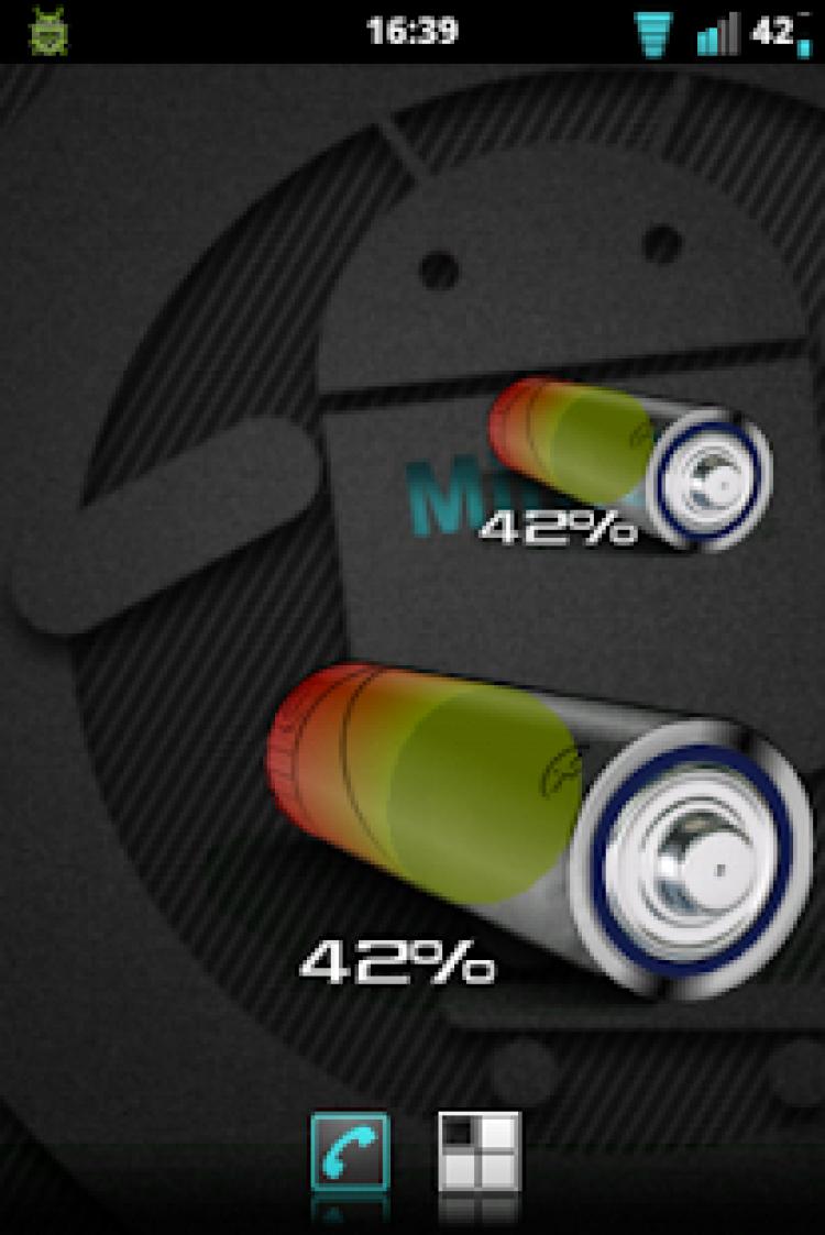3D AA Battery Widget скриншот 2