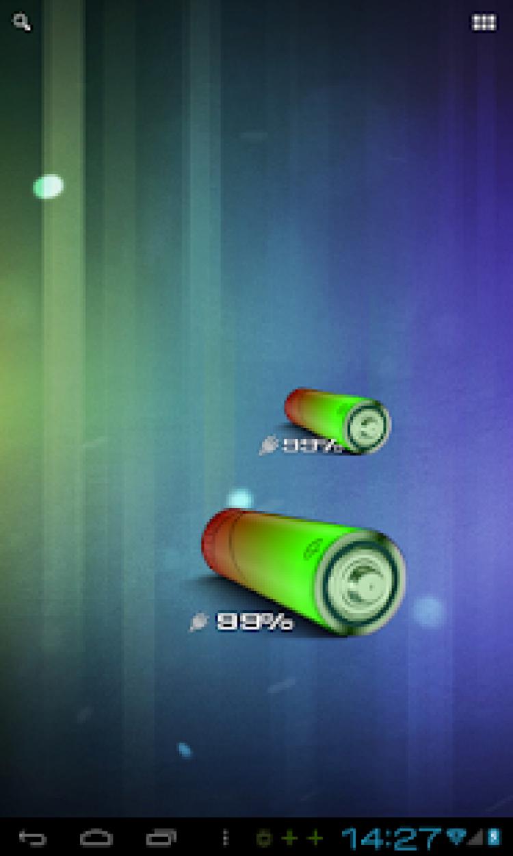 3D AA Battery Widget скриншот 3