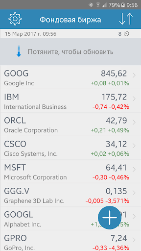 Фондовая биржа скриншот 1