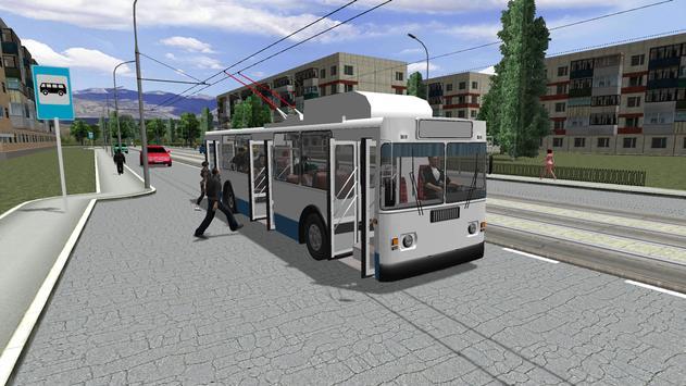 Симулятор троллейбуса 3D 2018 скриншот 1