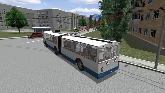 Симулятор троллейбуса 3D 2018 скриншот 3