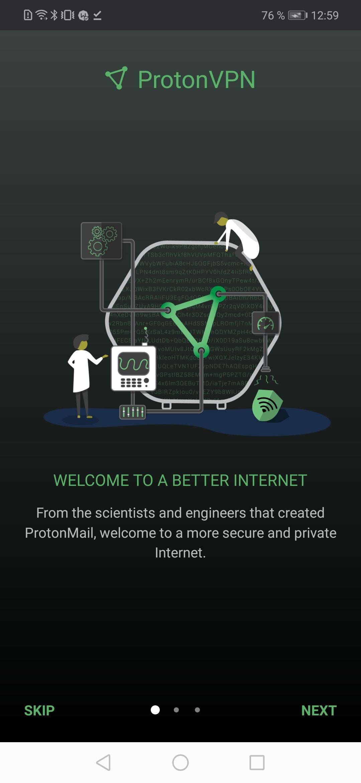 Proton VPN скриншот 1