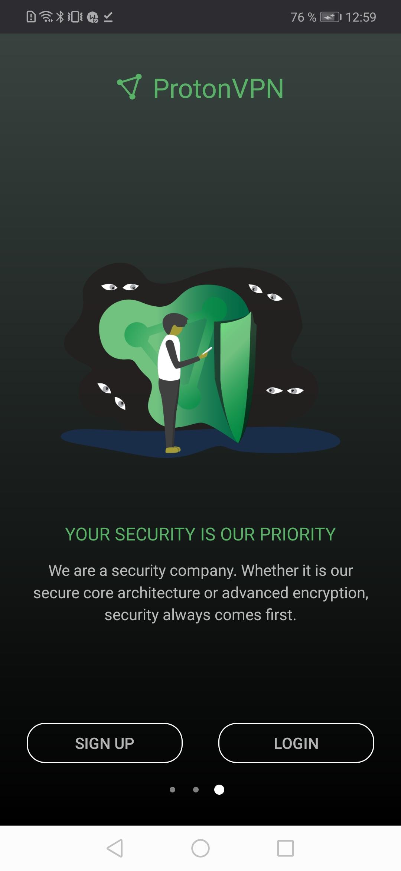 Proton VPN скриншот 3