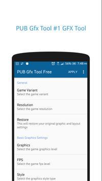PUB Gfx Tool Free for PUBG mobile скриншот 1