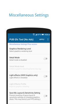 PUB Gfx Tool Free for PUBG mobile скриншот 3