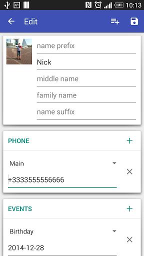 Контакты VCF скриншот 4