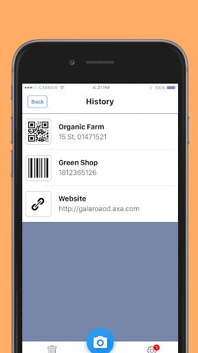 QR код - сканер штрих кодов скриншот 5
