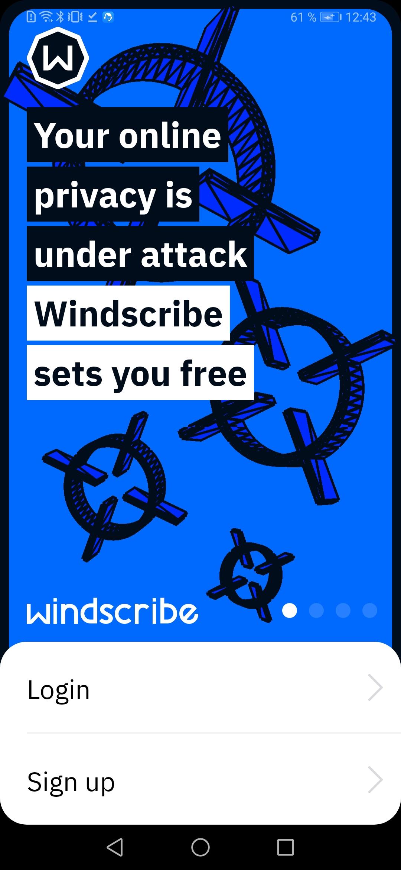 Windscribe VPN скриншот 1