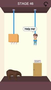 Rescue Cut - Rope Puzzle скриншот 1