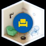 Шведский дизайн интерьера 3D