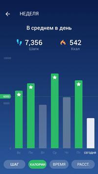 Шагомер - Cчётчик шагов & cчётчик калорий скриншот 2