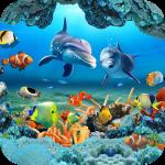 рыба жить обои 3D аквариум фон HD