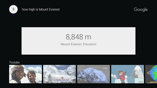 Google app for Android TV скриншот 3