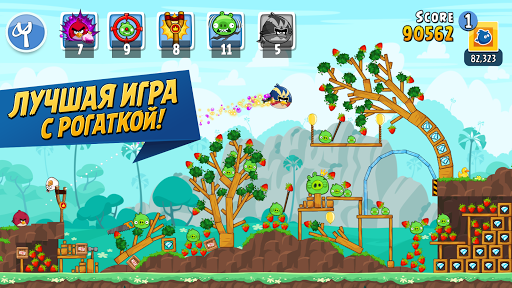 Angry Birds Friends скриншот 1