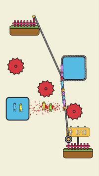 Rope Rescue! - Unique Puzzle скриншот 1