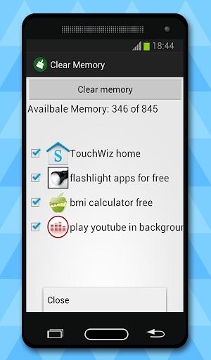 Очиститель памяти скриншот 2