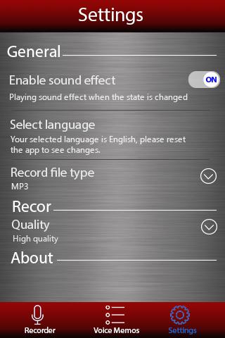 Диктофон - Voice recorder скриншот 4