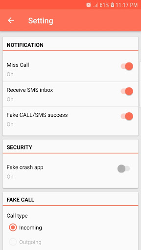 Fake Call and Sms скриншот 3