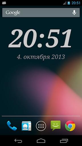 Виджет DIGI Clock скриншот 1