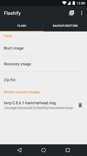Flashify (for root users) скриншот 1