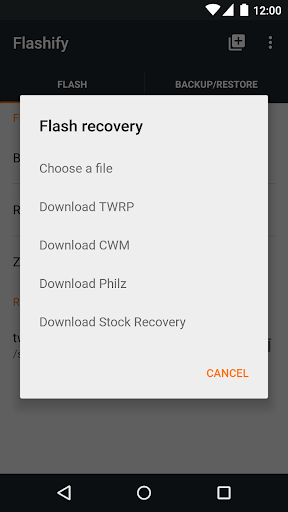Flashify (for root users) скриншот 2