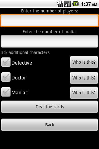 Карточная игра Мафия скриншот 2