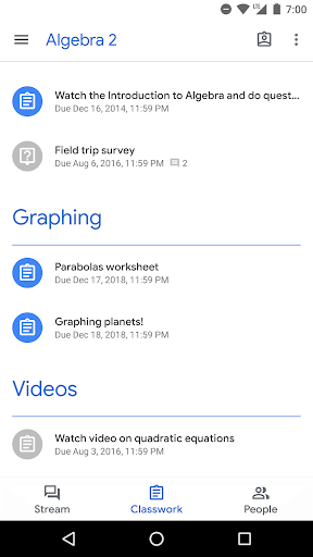 Google Classroom скриншот 2