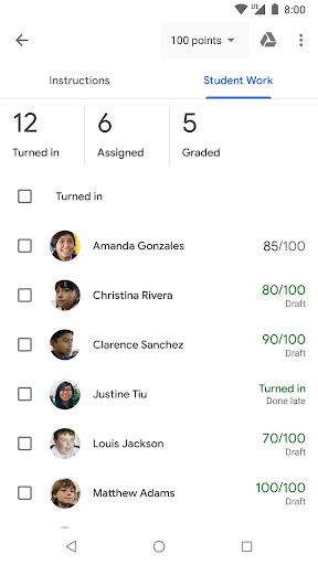 Google Classroom скриншот 4