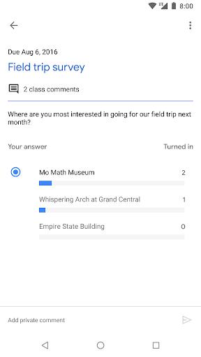 Google Classroom скриншот 5