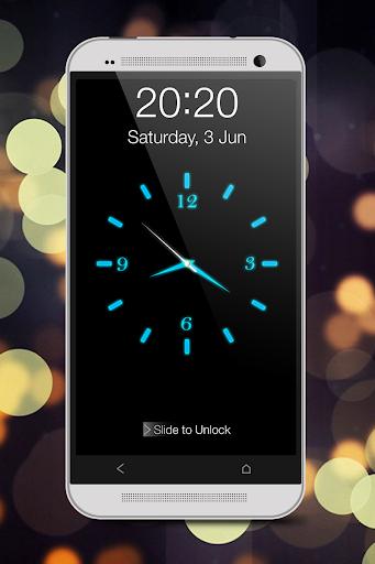 Светящиеся Часы Комод (синий) скриншот 1