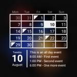 Виджет Календарь