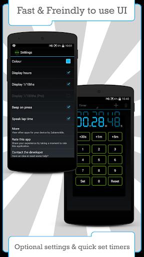 Цифровой таймер и секундомер скриншот 3