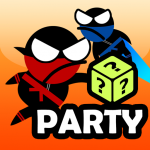 Прыжки ниндзя Party 2 игрока игры