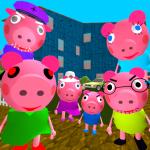 Piggy Neighbor. Family Escape Obby House 3D